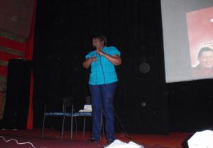 Antonia Muñoz. Charla del libro rojo en Acarigua.